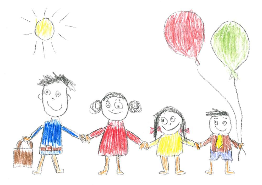 I Bambini Esprimono Le Emozioni Utilizzando Foglio E Colori Ecco